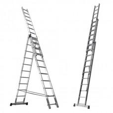 Лестница алюминиевая трехсекционная стандарт ( 8 ступеней)